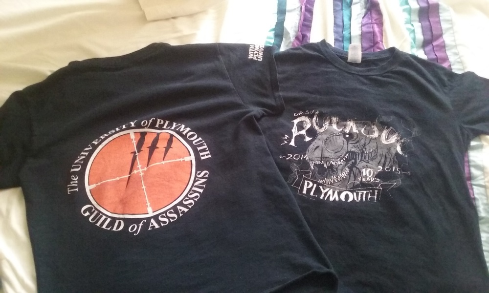 A couple of my society t-shirts!
