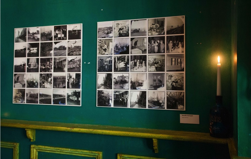 Image above of The Forgotten Image exhibition at the Bread and Roses Pub, as part of Plymouth History Festival 2015.
