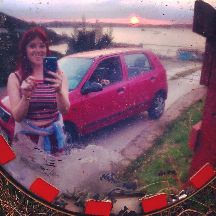 Selfie with my beloved Suzuki Alto,her friends call her Seabiscuit B-).