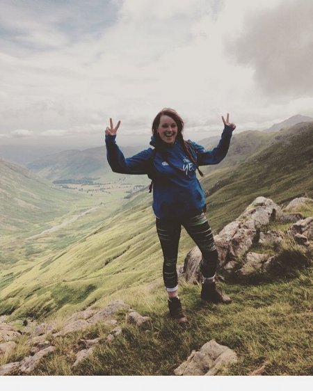 taking my team up scafell pike (the tallest peak in England) was so much fun