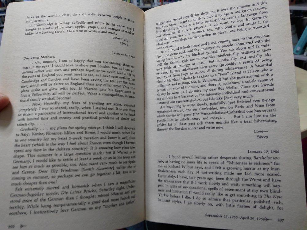 Sylvia Plath's letters
