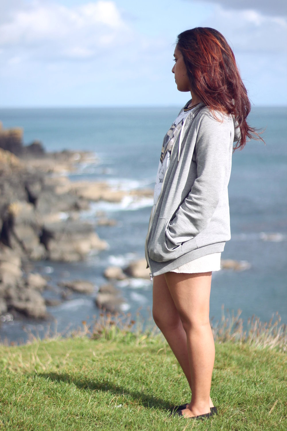 Gazing at the view at Lizard Point.
