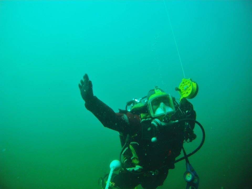 An underwater shot in New England Quarry as part of my dive training.