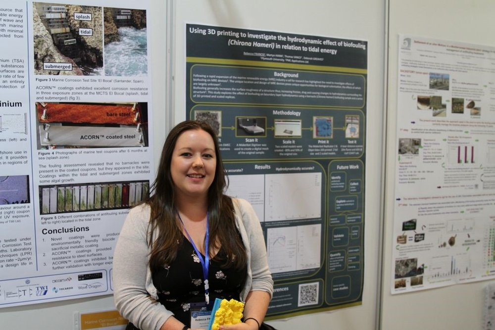 Presenting my work as a poster at the ICMCF conference in Toulon