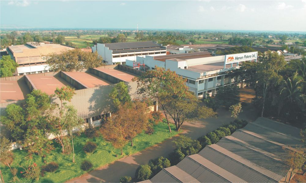 Menon Pistons Ltd. main manufacturing facility at Kolhapur.  ( click to enlarge ).