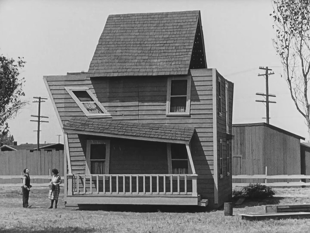 Consider getting your bride a prefabricated house!  Still from: 'One week'  from 1920, Buster Keaton (1895-1966)