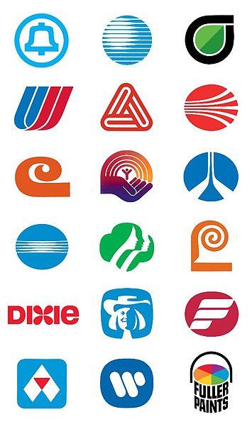 Saul Bass Logo's from Wikipedia http://en.wikipedia.org/wiki/File:SaulBassLogos.jpg