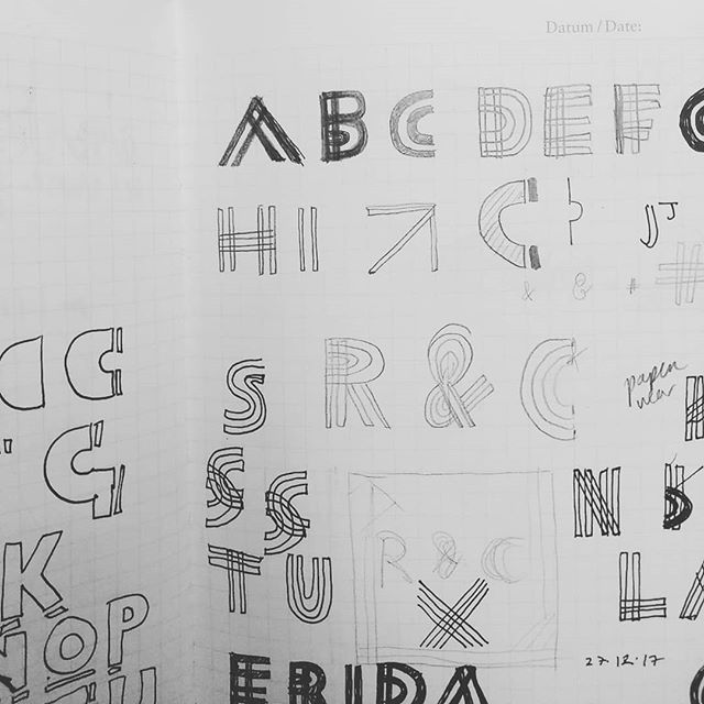 Sketches for new type ideas. . . . #type #lettering #design #dublin #ireland #sketches