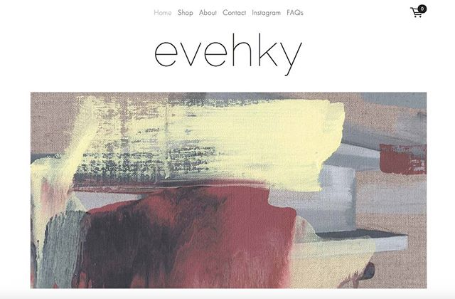 My brilliant talented friend @evehkyart has just launched her website selling beautiful art prints. * * * I was delighted to work on the website for her. * * Go check it out, and treat yourself to a lovely print for your wall. * #evehickey #evehky #webdesign #fineartprint #doyleydesigns #art