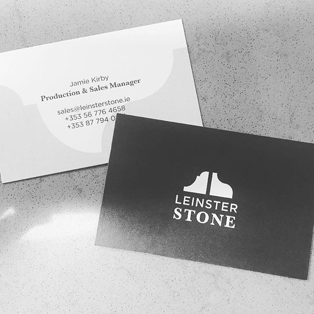 Recent branding and website for @leinsterstone Lovely to see it out in the world. Check out their lovely work. . . . .  @Regranned from @leinsterstone -  Rebranding entering its final stages. Ready to hit the road and meet some new people.  #rebranding #marblebathrooms #architecturalstonework #stonecladding - #regrann