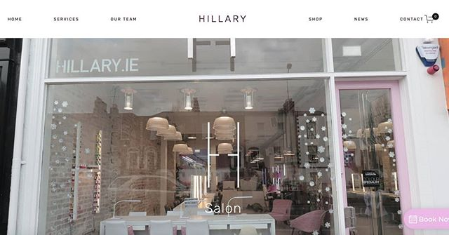 Delighted to have worked with Hillary and her team to create their new website! The salon is gorgeous. 😍 . . . #salon #webdesign #hair #makeup #nails #extensions #irishdesign #irishbusiness #smallbusinessowner #ranelagh