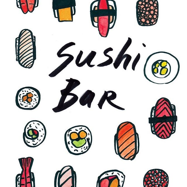 Detail of a poster I did a long time ago. 🍣 🍱🍥🍙 . . . . #throwbacksunday #illustration #design #sushi #yumyum #iwantsushi #whenistherugbyover