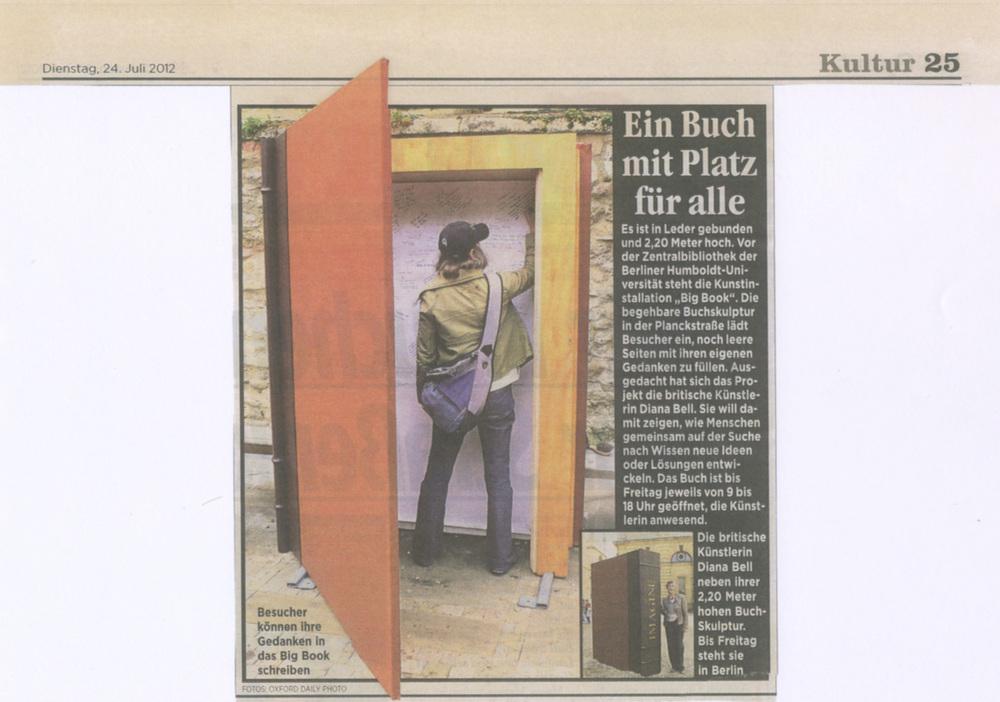 Berliner Zeitung  , July 2012