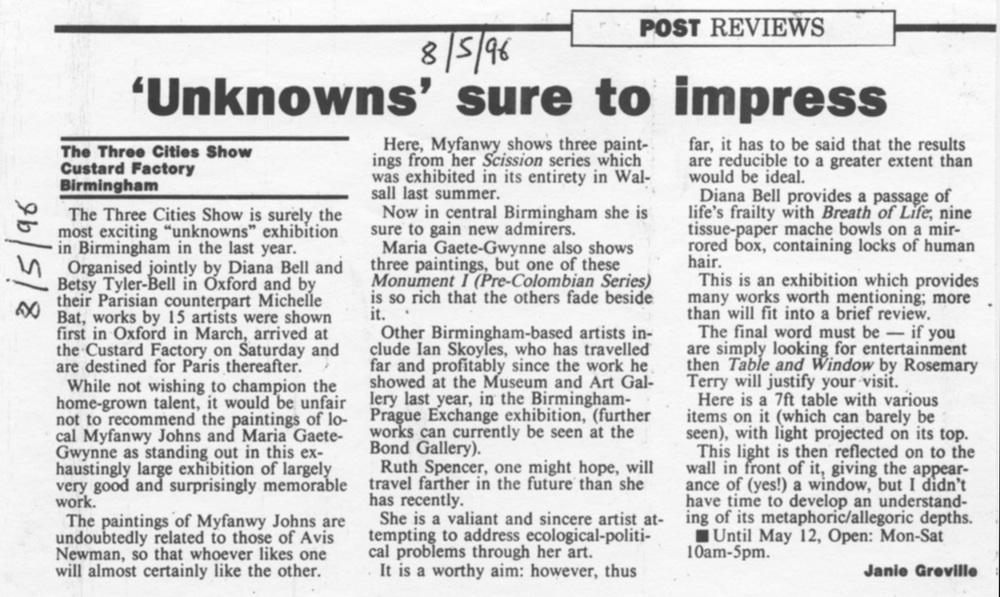 BIRMINGHAM POST, May 1996