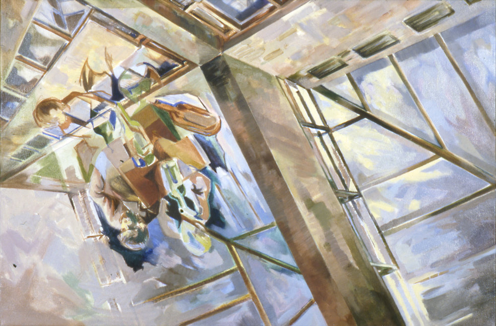 CITY REFLECTIONS Oil on canvas,  65cm x 75cm