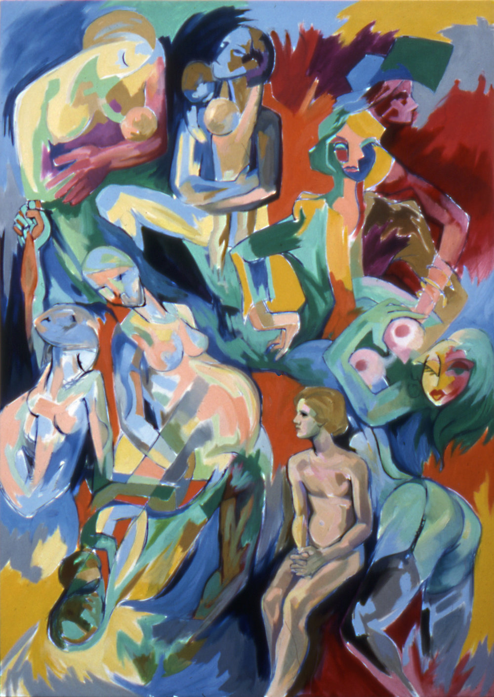 IMAGES OF WOMAN Oil on canvas, 186cm x 104cm