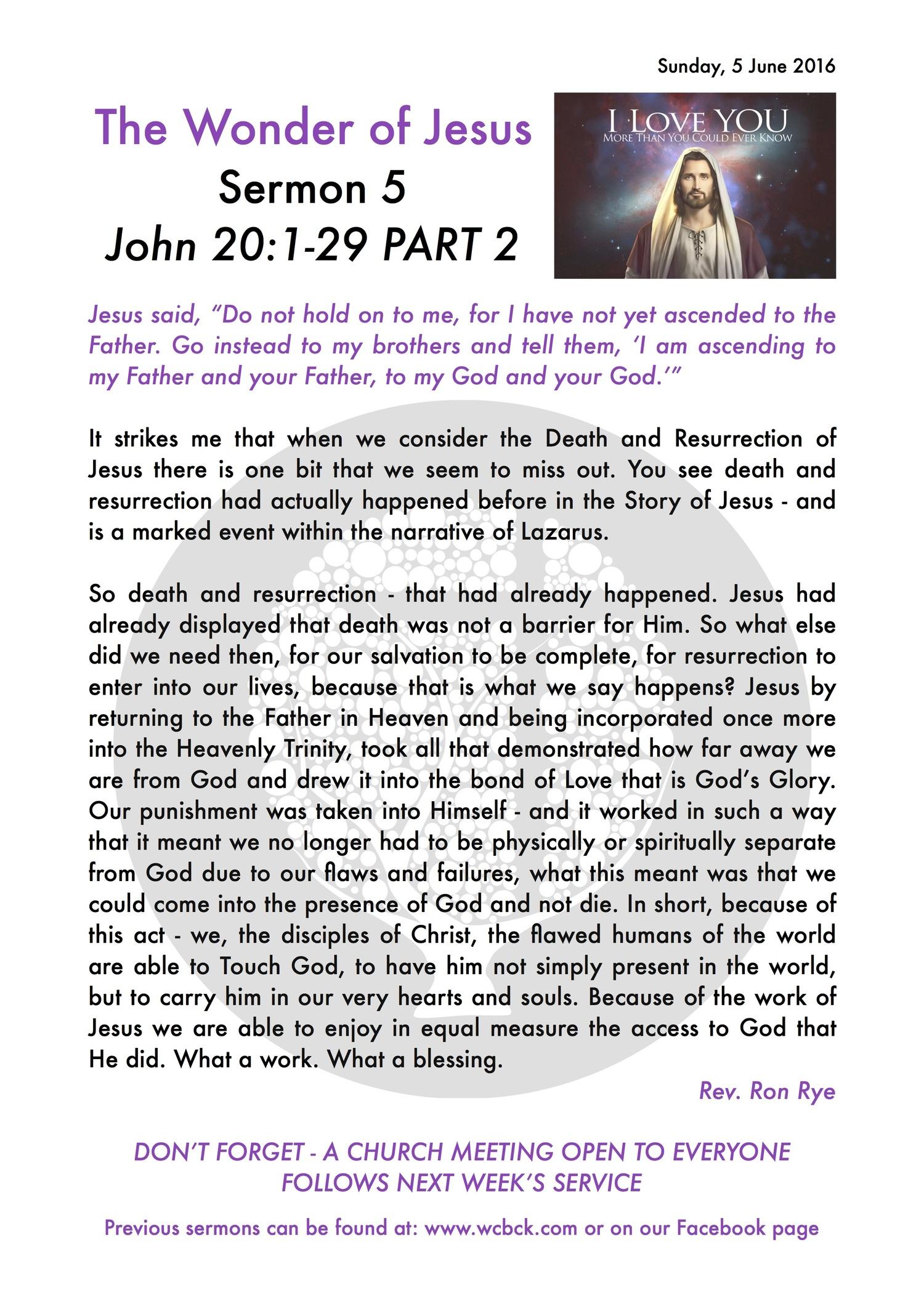 Sermon On Hold On To Jesus