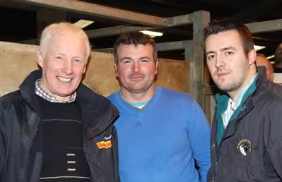 Pictured at the NI Simmental Cattle Breeders' Club show and sale, Dungannon, are from left: Leslie Weatherup, Ballyclare; Alan Wilson, Newry; and Christopher Boyd, Portglenone.