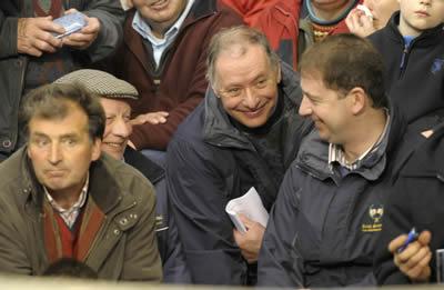 Bertie Housten and Peadar Glennon, representatives from the Irish Simmental Society