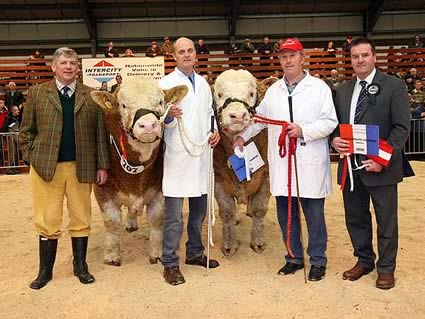 Intermediate Champion & Reserve Intermediate Champion Recieve awards from Judge Robin Boyd and Sponsor William Jackson CKD Galbraith