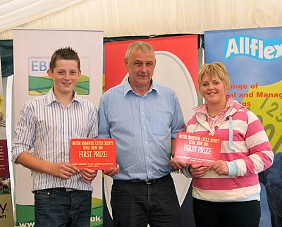 Winning Team Under 21 Welsh Club Rhys & Angharad Francis with Jimmy Wood Sponsor Popes Simmentals