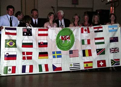 World Representatives with the Congress Banner.