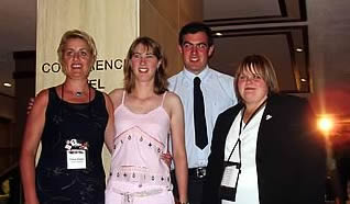 Fiona Sloan with Caroline & Stephanie & Clarke (Caroline's fiancé) World Congress 2006