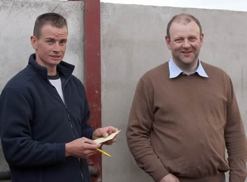 NI Simmental club vice-chairman Richard Rodgers, Portglenone, and Matthew Cunning. Glarryford.