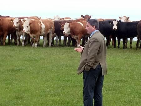Host farmer, John Hamilton