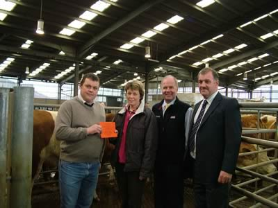 Brian McIldowie (Judge), Mrs Berwick, Russell Drummond (from sponsors Pfizer), Tom Henderson (Scottish Club Vice- Chairman)