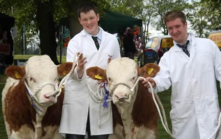 Lurgan Show qualifiers for the Ivomec Super Simmental Pair of the Year competition were Ballymoney Derek and Ballymoney David owned b Noel Kilpatrick, Banbridge, and exhibited by Alan Shortt and Marcus Berry