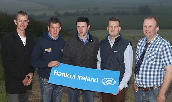 Team members in the under 30yrs categoryare William Ferguson, Stewartstown, and Andrew Clarke, Tynan. They were congratulated by chairman Richard Rodgers; sponsor William Thompson, Bank of Ireland; and vice chairman Matthew Cunning. Picture: Steven McAuley/Kevin McAuley Photography Multimedia