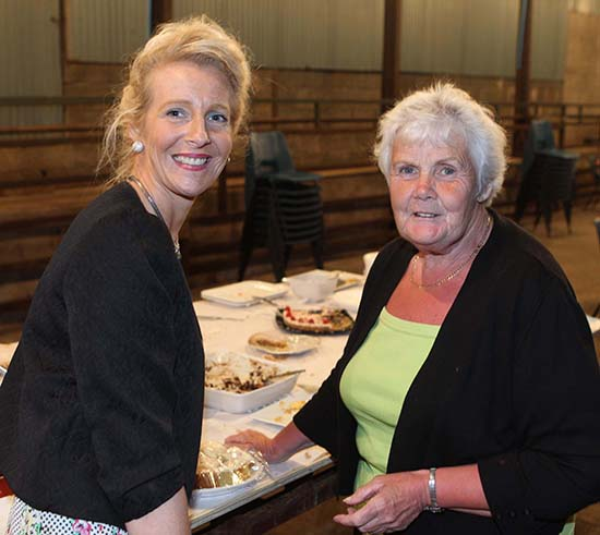 Committee member Thelma Gorman, Armagh, and host Sandra Rodgers, Portglenone. Picture: Steven McAuley/Kevin McAuley Photography Multimedia