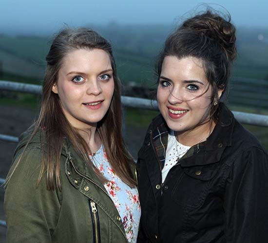 Simmental Young Members' Association co-ordinator Zara Stubbs, and sister Alice, from Irvinestown, were among the competitors at the club's annual stockjudging event. Picture: Steven McAuley/Kevin McAuley Photography