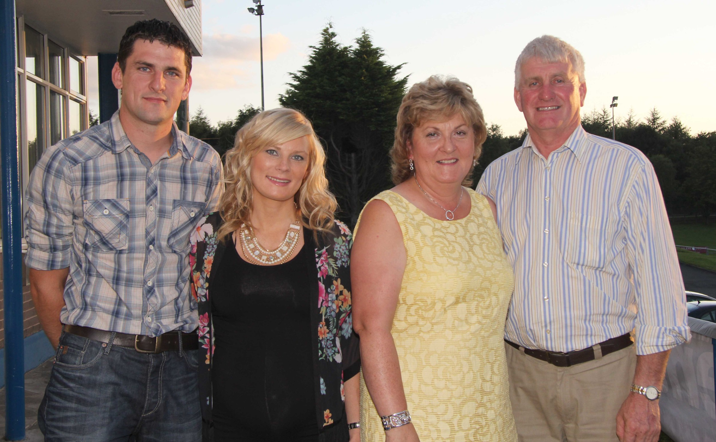 Pictured at the Simmental Club BBQ are Val, Maureen, Conrad and Donna Fegal from Rostrevor. Picture: Julie Hazelton