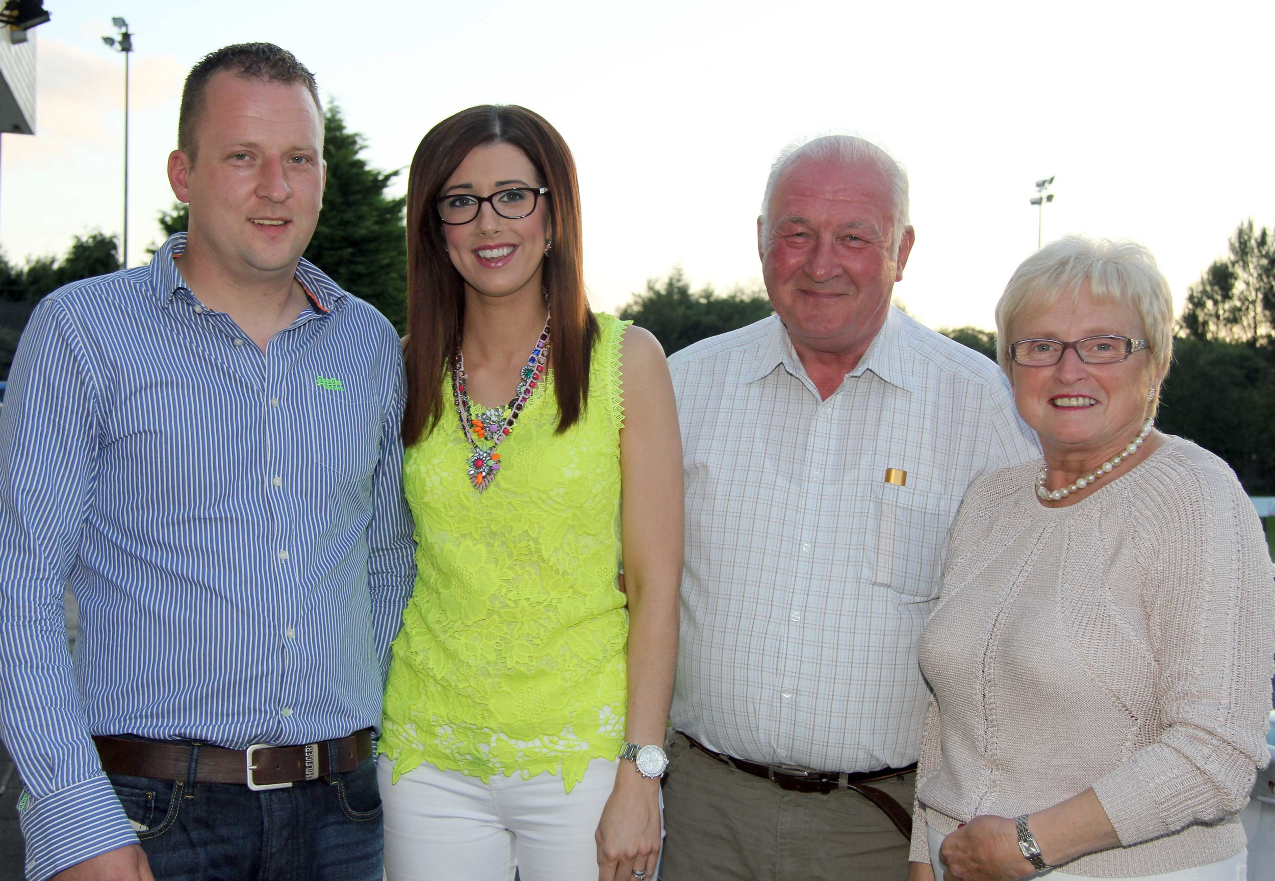 Jonny, Julie, David and Jackalyn Hazelton, Dungannon, pictured at the NI Simmental Club's annual charity BBQ. Picture: Julie Hazelton