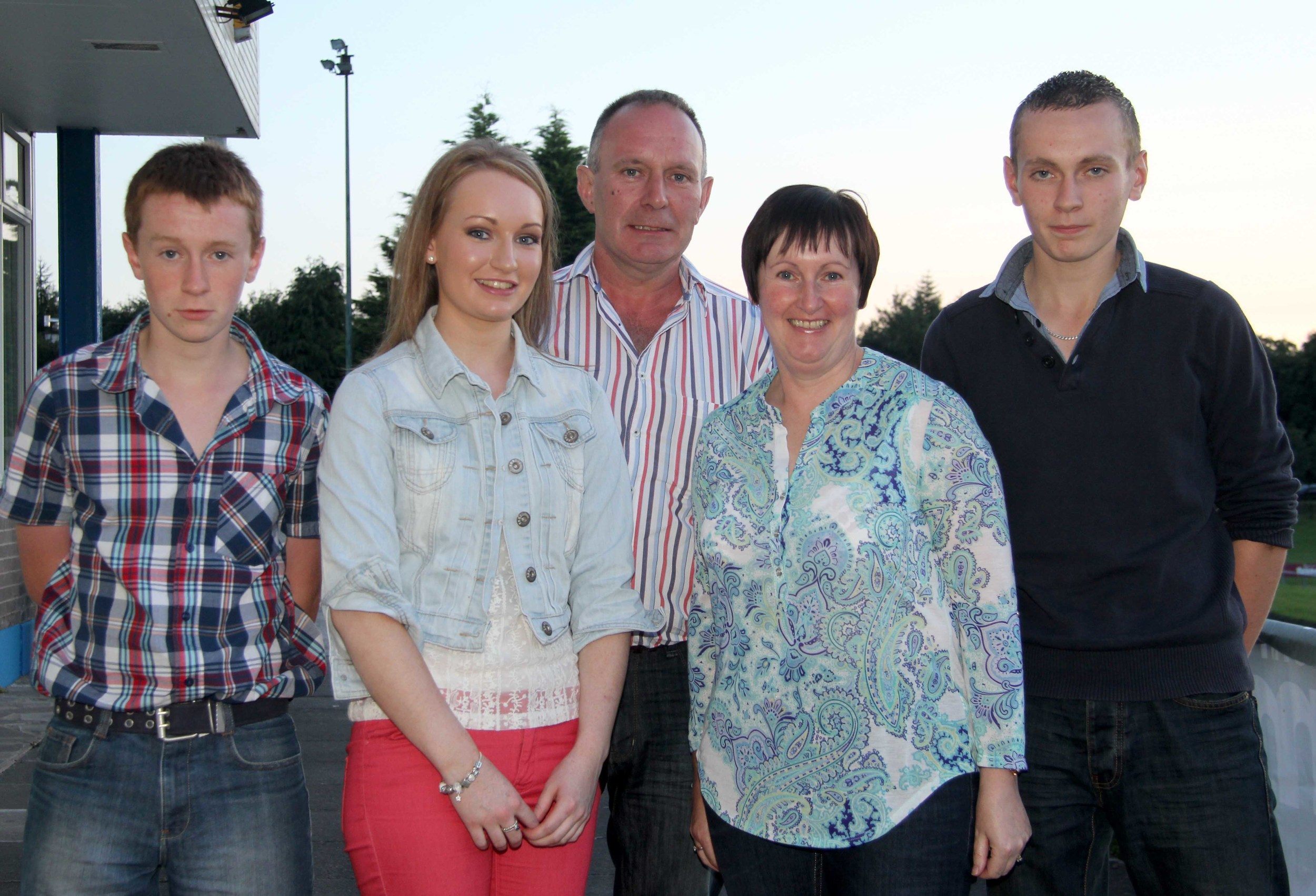 The Carson family, David, Mary, Gillian, Adrian and Darren, from Garrison, County Fermanagh, pictured at the Simmental Club BBQ. Picture: Julie Hazelton