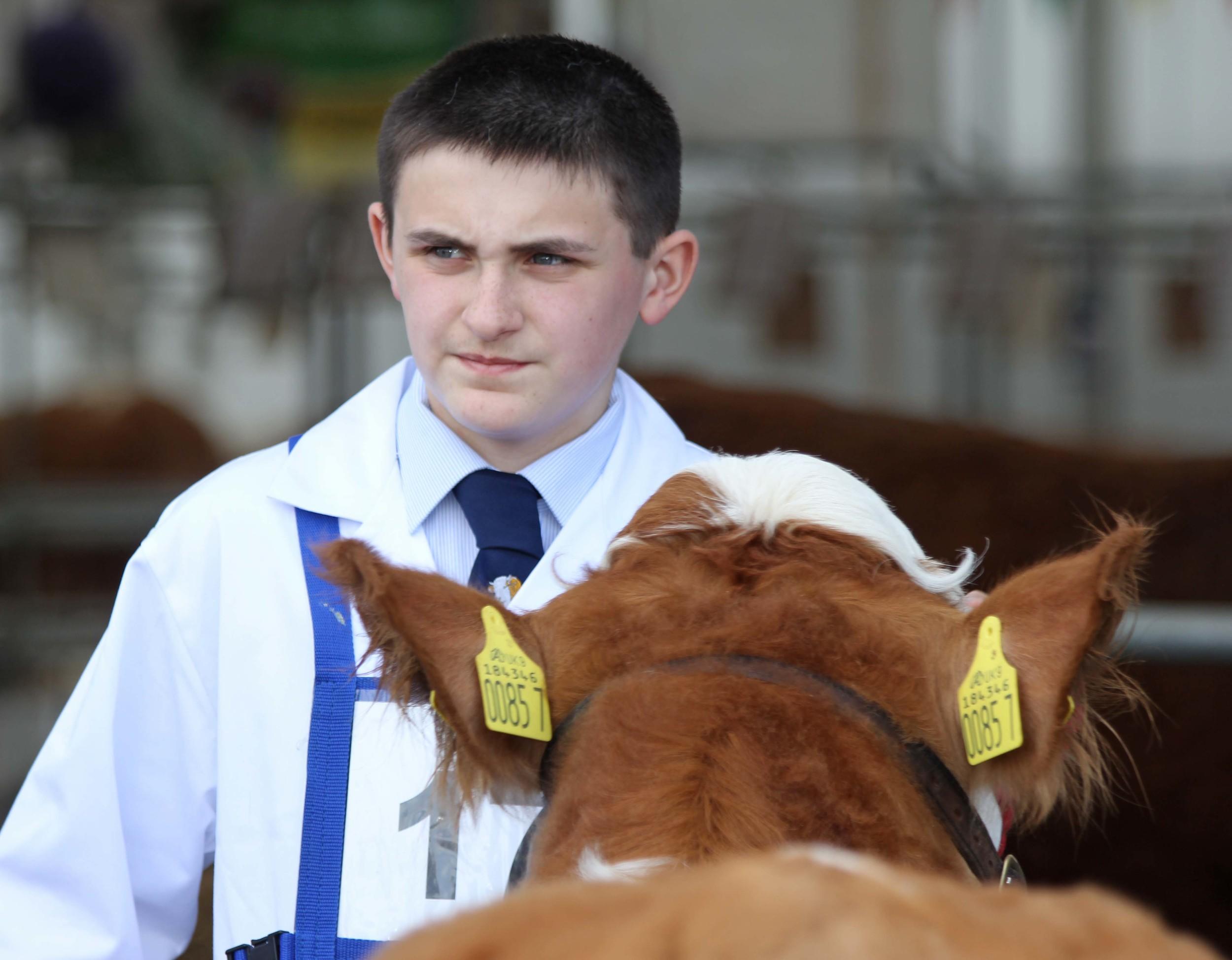 Simmental exhibitor Jason Whitcroft, Armagh.