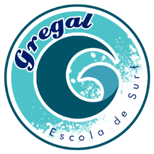 logotip escola de surf gregal