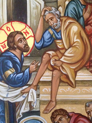 The Washing of the Feet, detail
