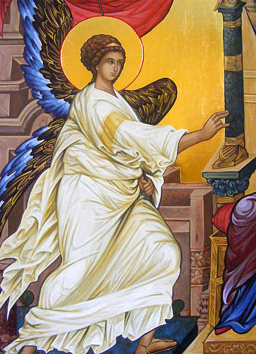 The Annunciation, detail