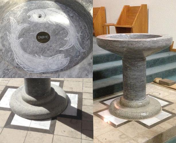 Restored Baptismal Font