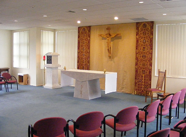 Crucifix, Drapery and Tabernacle