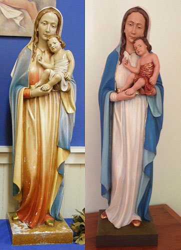 Restoration of Our Lady Statue