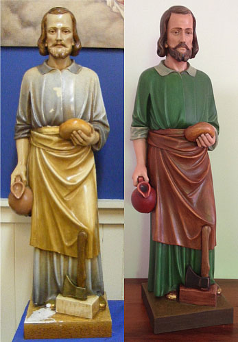 Restoration of St Joseph Statue