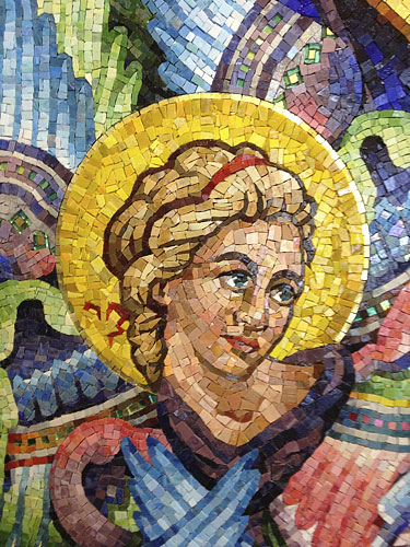Mosaic, Lamb of God, detail