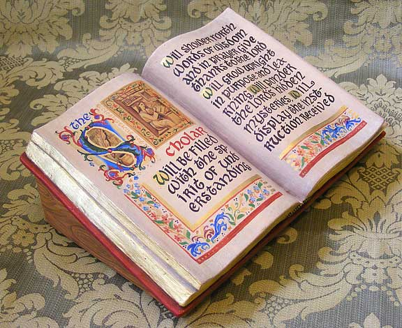 Illuminated Sculpted Book
