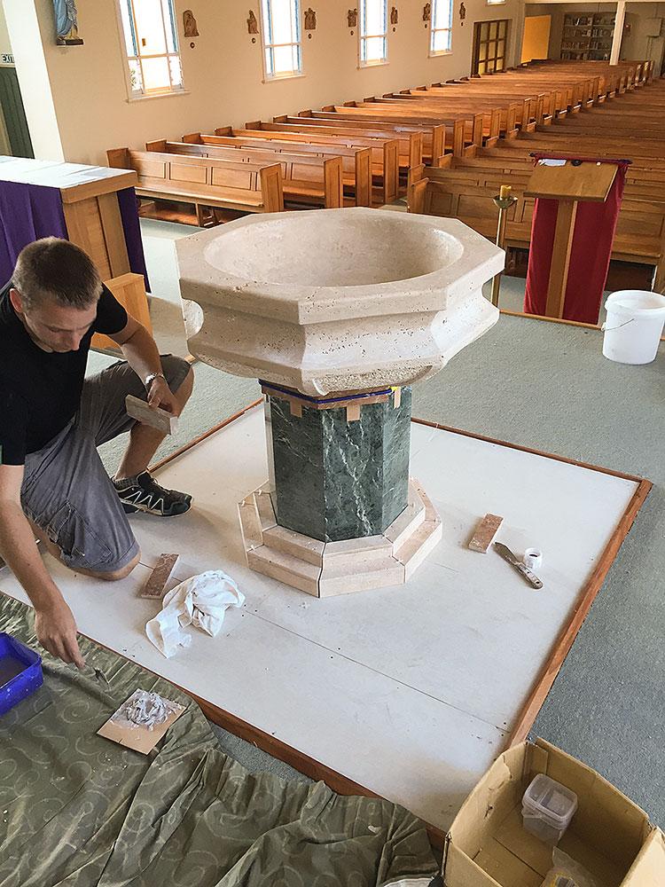 Baptismal Font, installation