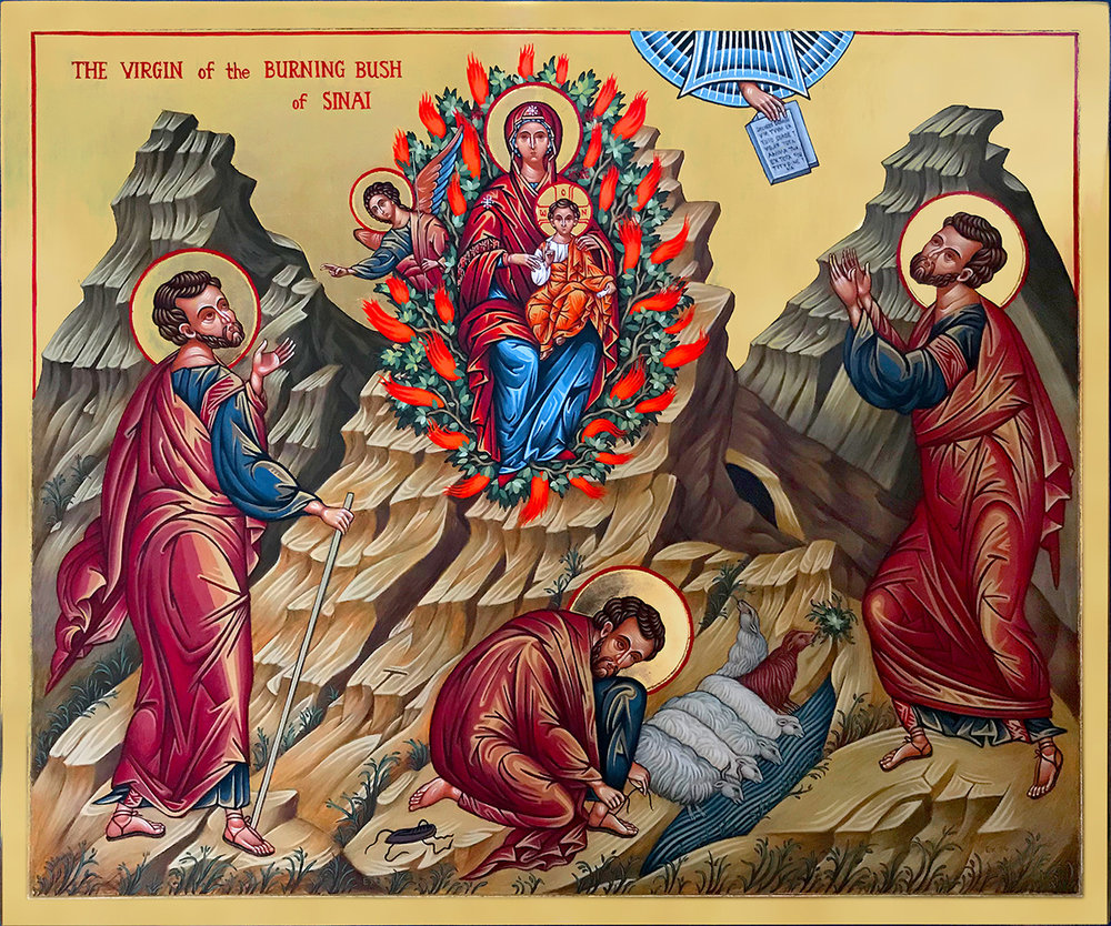 Icon of Moses and the Burning Bush 66 x 55 cm NZD$5,500.00   Enquire