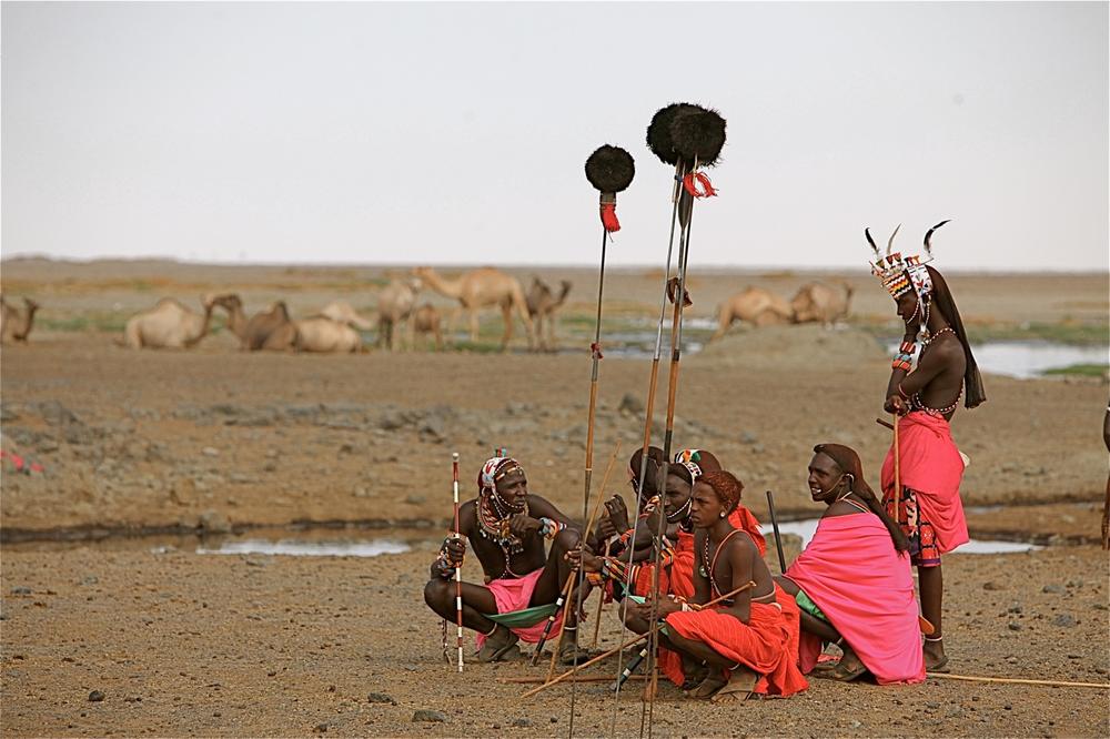 Rendille men with spears & camels.jpg